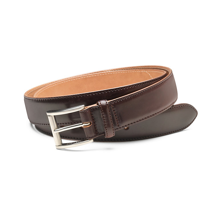 Men's Narrower Horse Leather Belt Oxblood