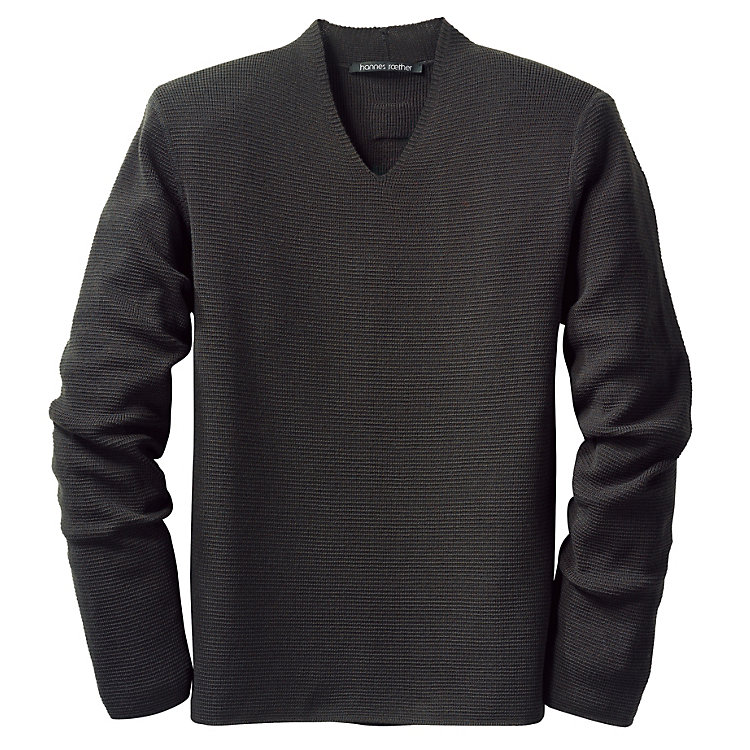 Men's Sweater Fine Purl Stitch Anthracite