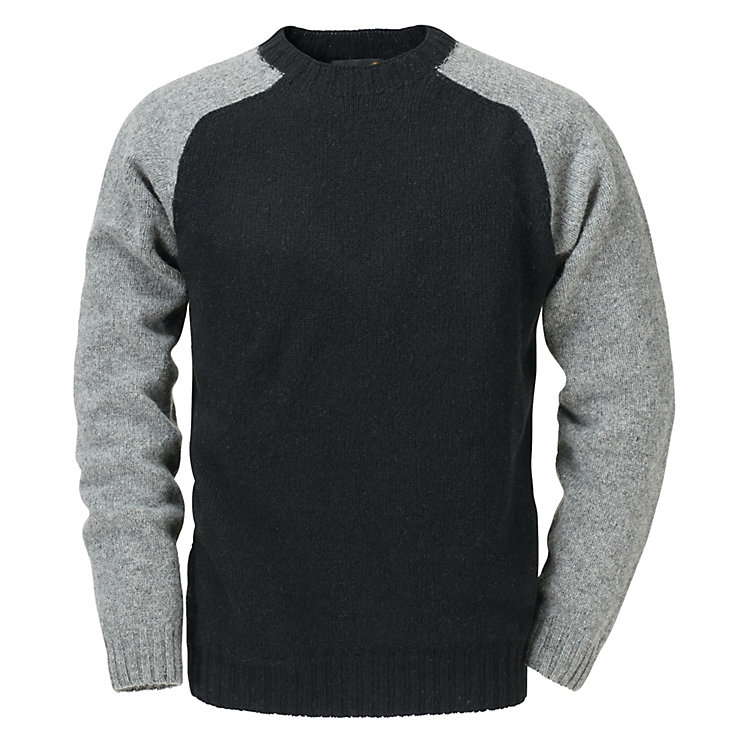 Men's Sweater with Raglan Sleeves Black/Grey