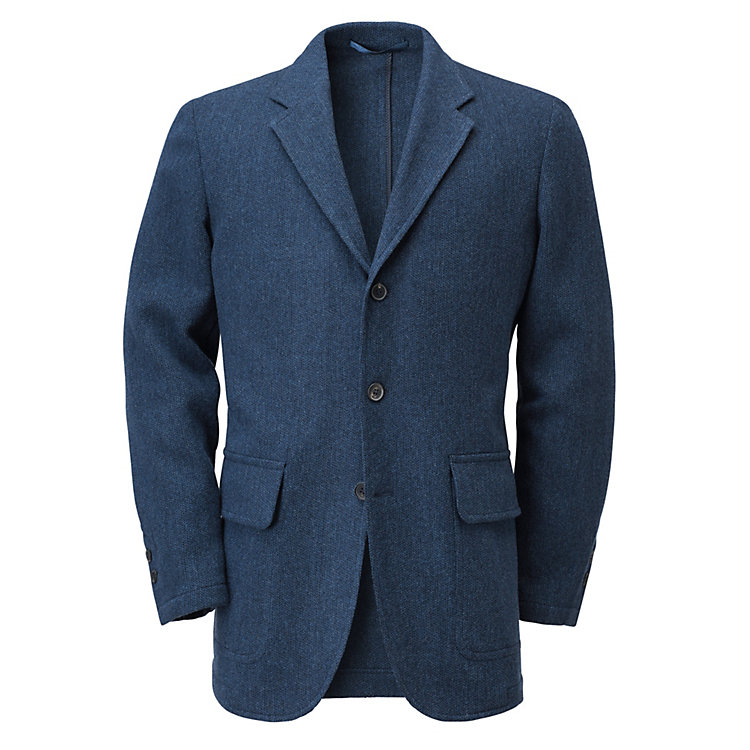 Men's Virgin Wool Sports Jacket Blue