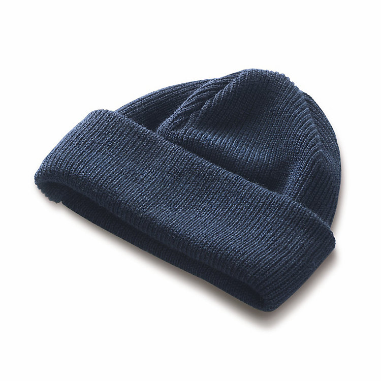 Merino Wool Hat with Double Turn-up