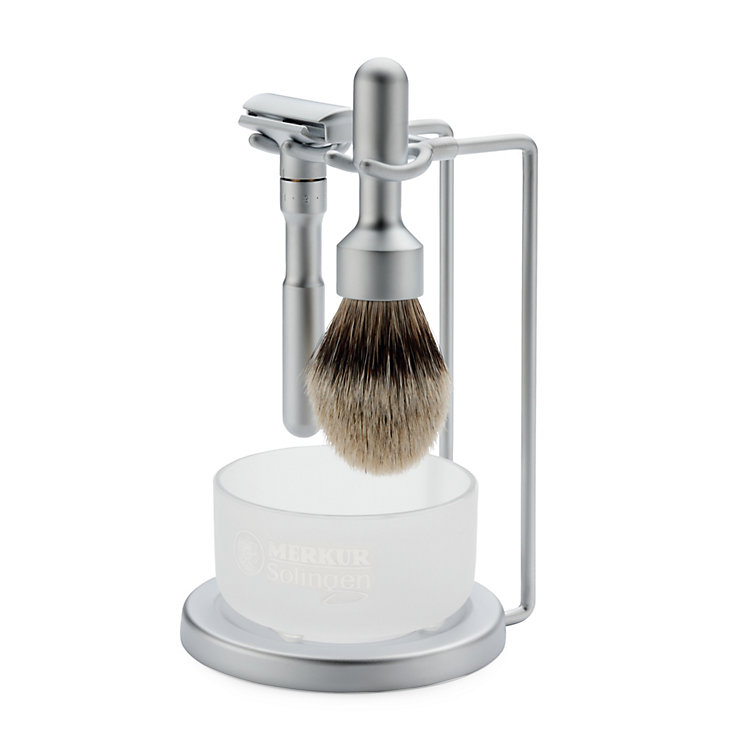 Merkur Futur shaving set with soap bowl