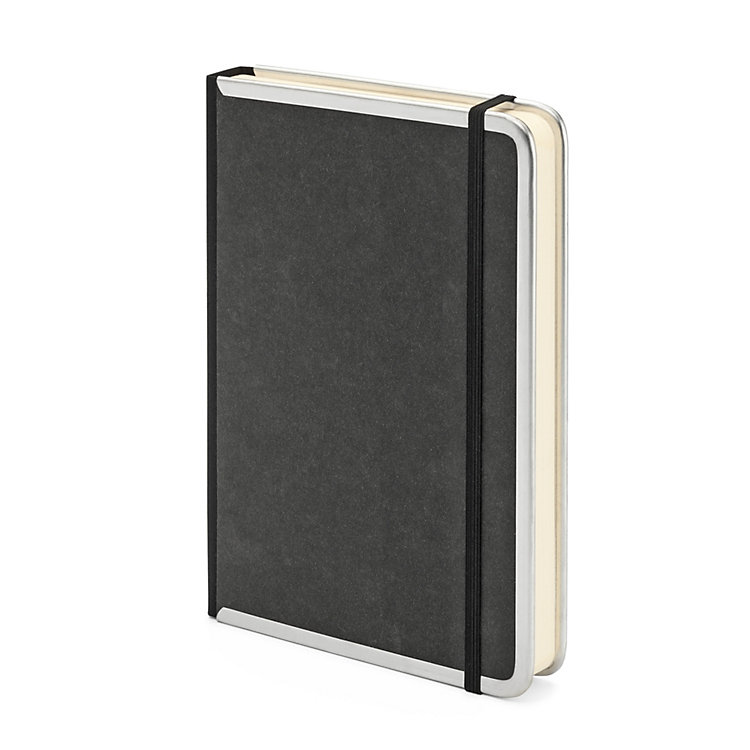 Metal Edge A5 Note Book Blank Black