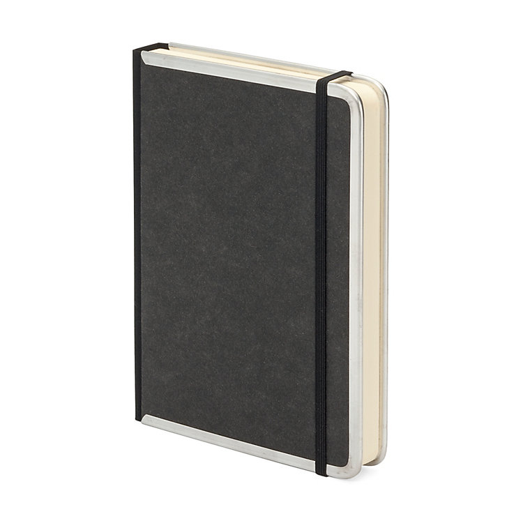 Metal Edge A5 Note Book Lined Black