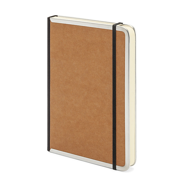 Metal Edge A5 Note Book Blank Brown