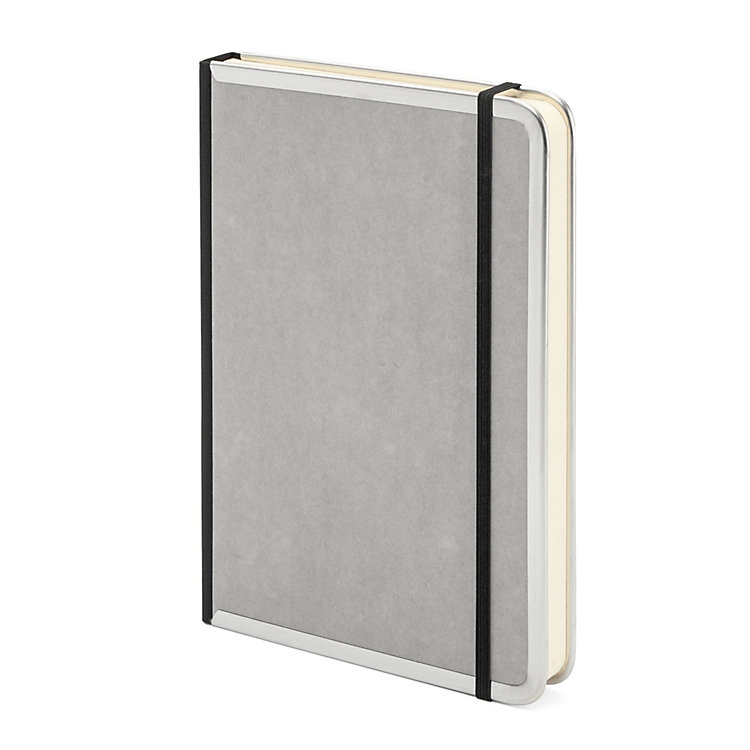 Metal Edge A5 Note Book Blank Grey