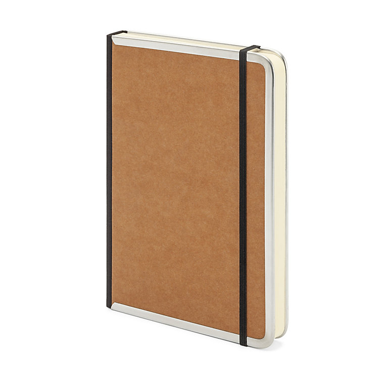 Metal Edge A5 Note Book Lined Brown