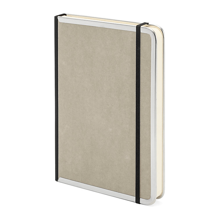Metal Edge A5 Note Book Lined Grey