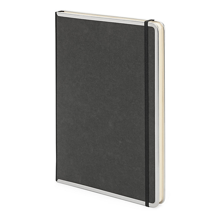 Metal Edged A4 Notebook Blank Black