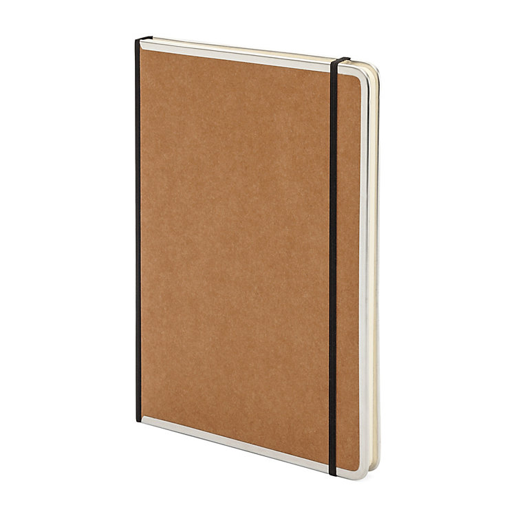 Metal Edged A4 Notebook Blank Brown