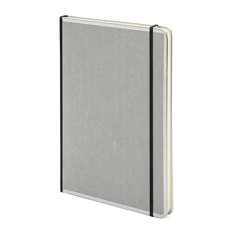 Metal Edged A4 Notebook Blank Grey