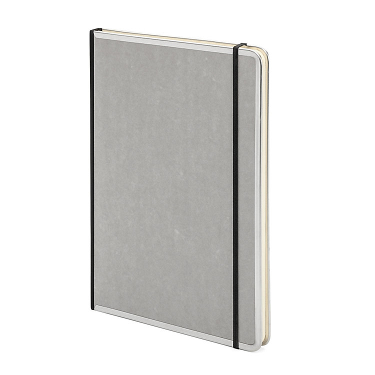 Metal Edged A4 Notebook Lined Grey