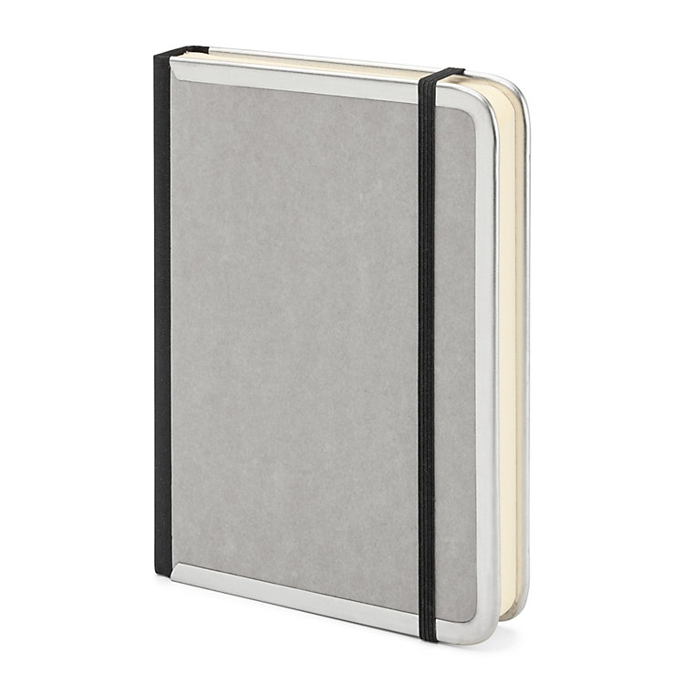 Metal Edged A6 Notebook Lined Grey
