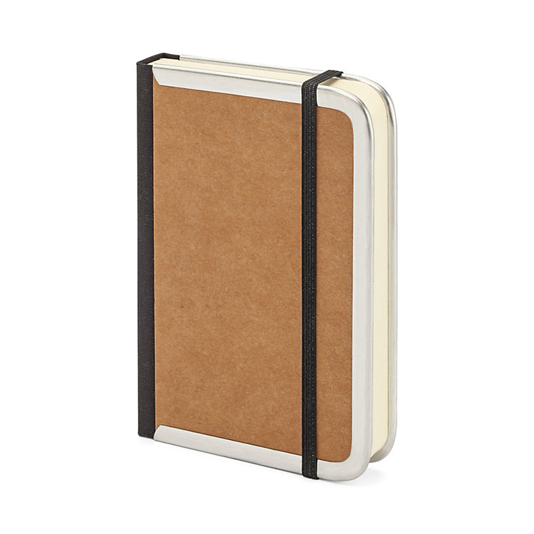 Metal Edged Notebook Lined Brown