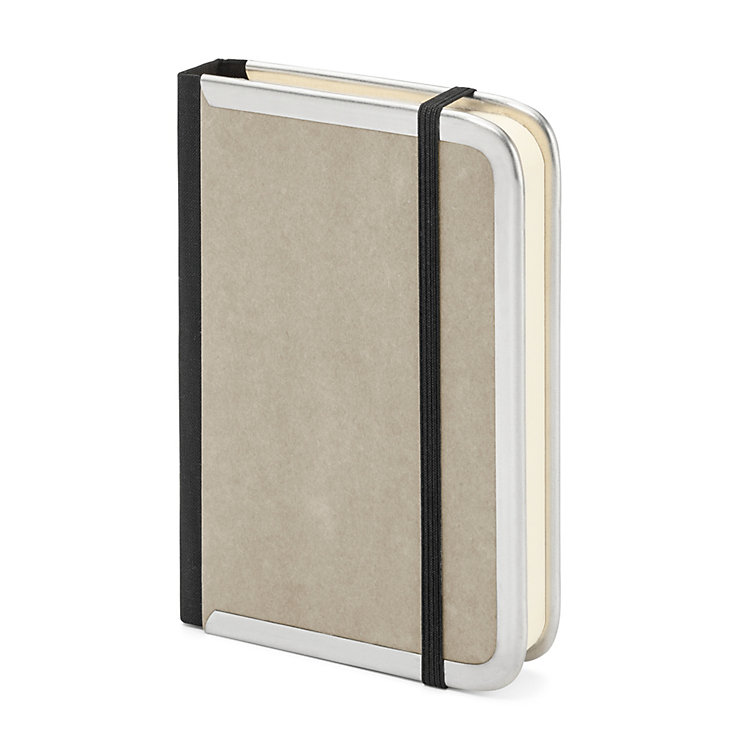 Metal Edged Notebook Lined Grey