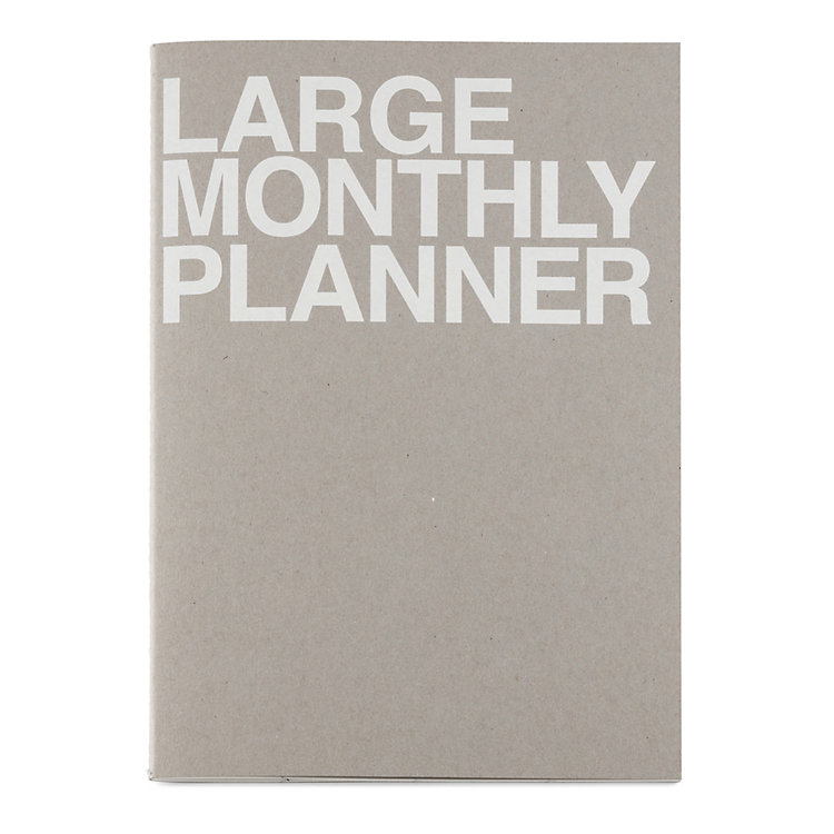 Monthly Schedule with Saddle Binding