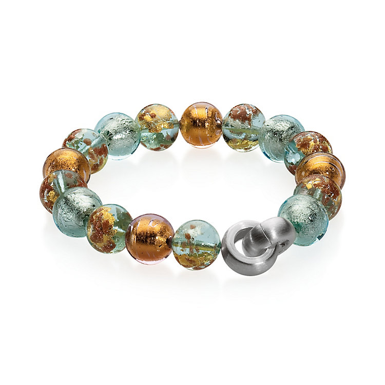 Murano Glass Bracelet with Copper Pastel