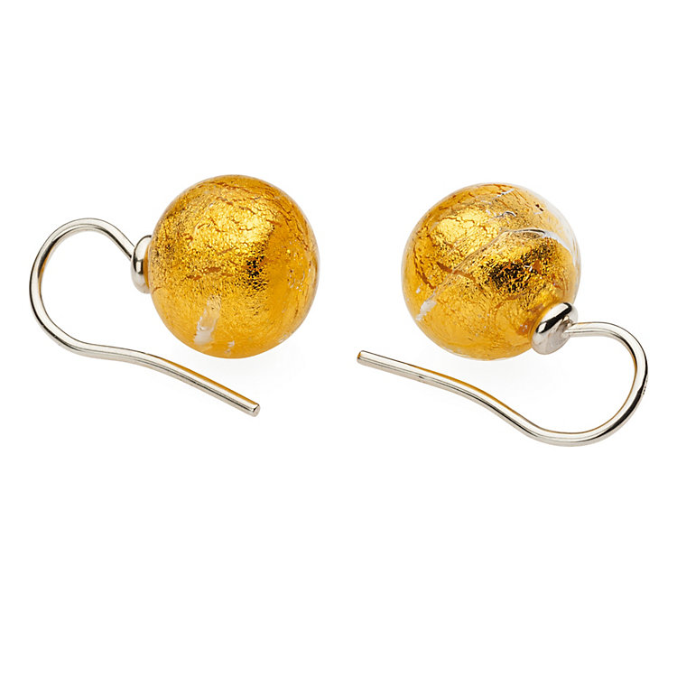 Murano Glass Earrings, Gold