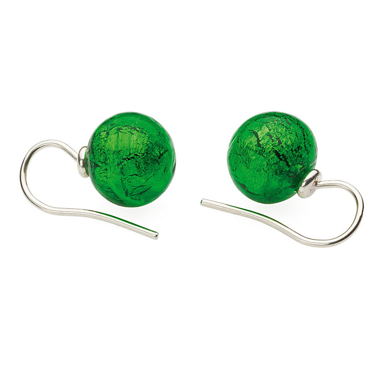 Murano Glass Earrings Green