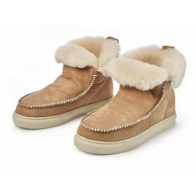 nat-2™ Damen-Fell-Boots Camel