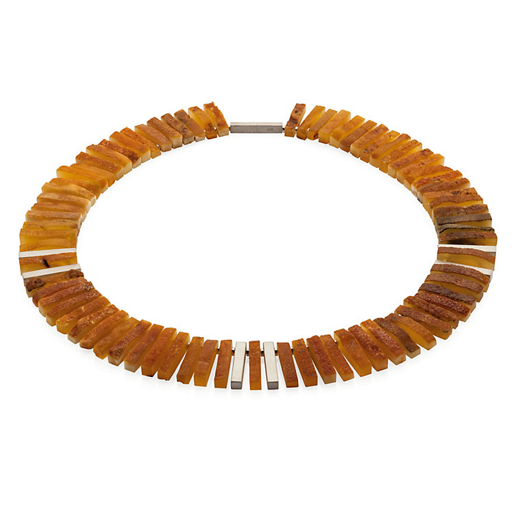 Necklace Made of Bars of Amber