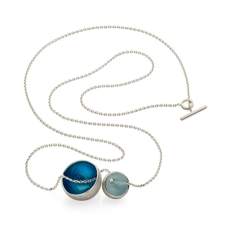 Necklace Silver and Enamel Turquoise
