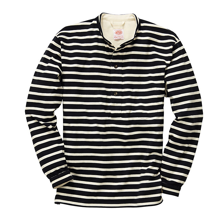 Nigel Cabourn - Armor Lux Men's Knitted Shirt Navy Blue/Natural