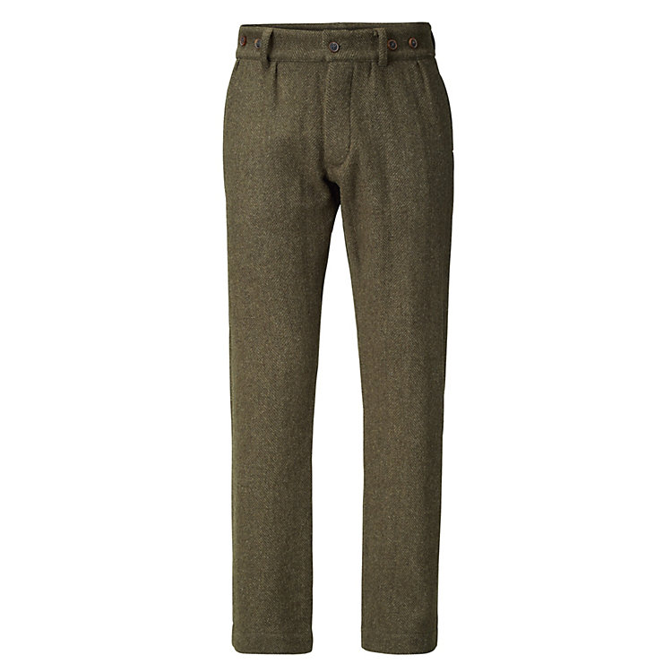 Nigel Cabourn Herrenhose Harris-Tweed Oliv