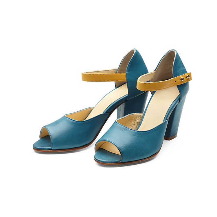 Nine to Five Ankle Sandals Blue-Yellow