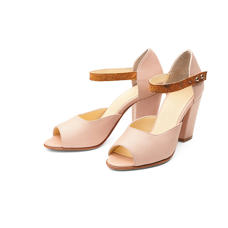 Nine to Five Ankle Sandals Powder-Brown