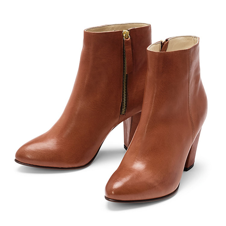 Nine to Five Damen-Stiefelette Kalbleder Cognac