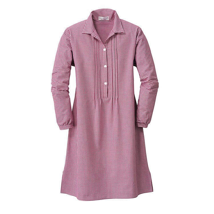 Novila Womens Flannel Nightgown Red Manufactum