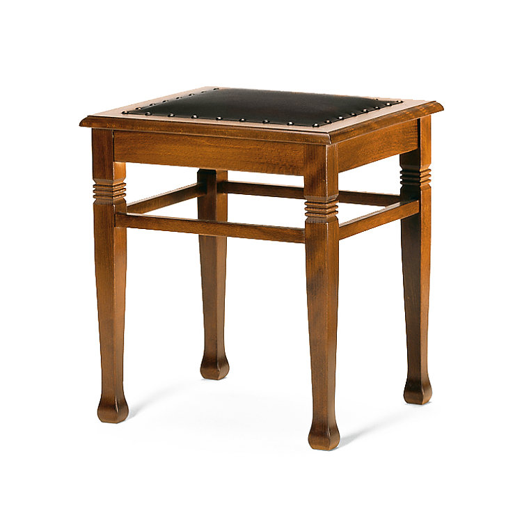 Old Nikolai School Stool, Leather