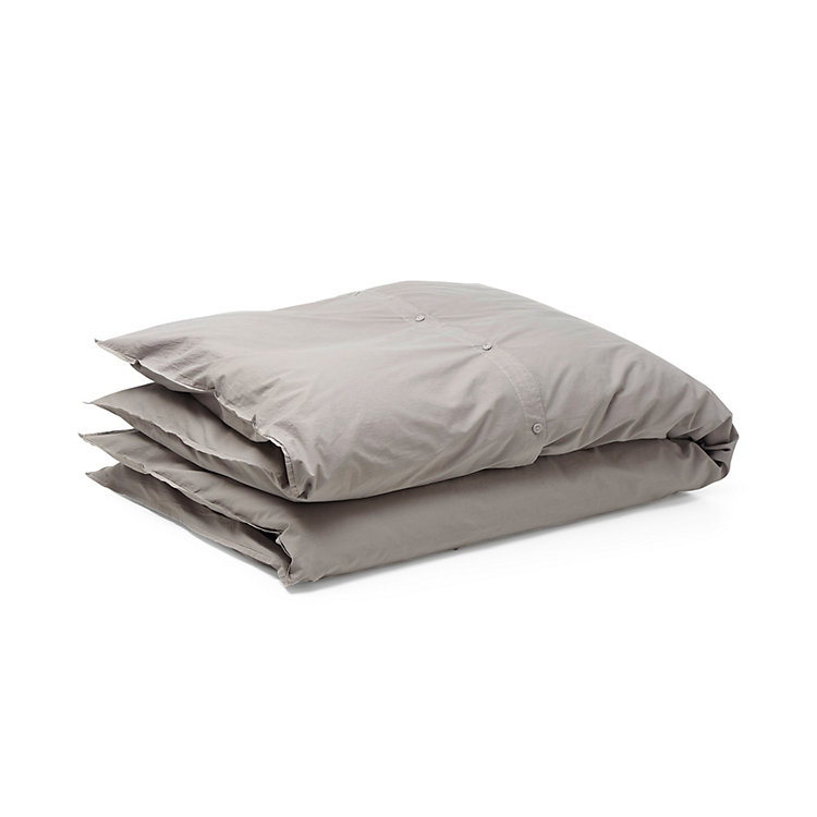 Orgamint Perkal Bed covers 155 x 220 cm Gray