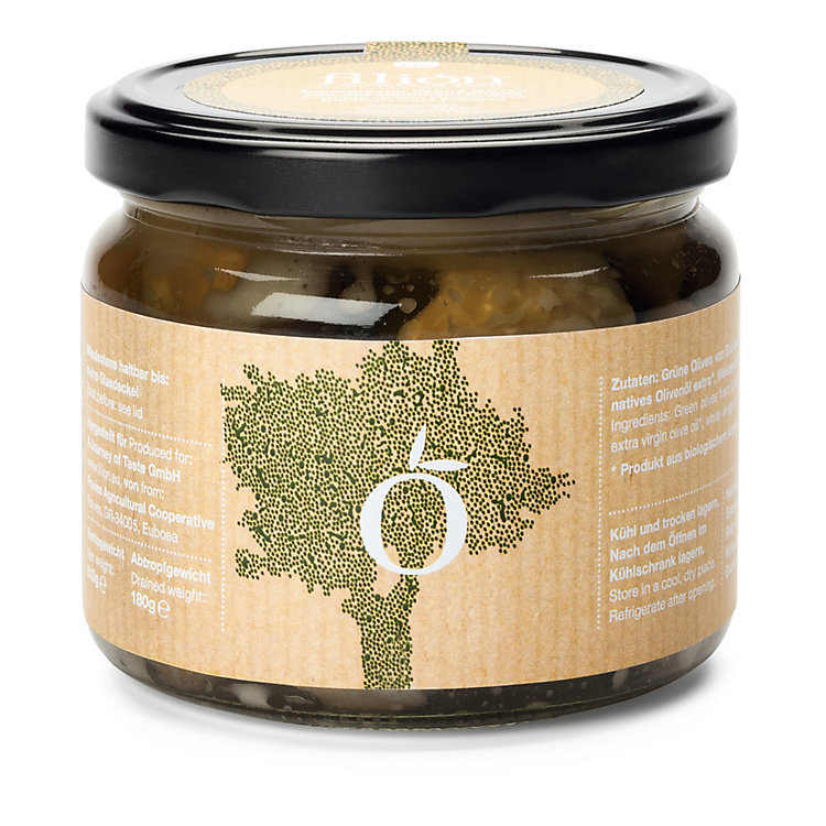 Organic Konservolia Olives from Greece