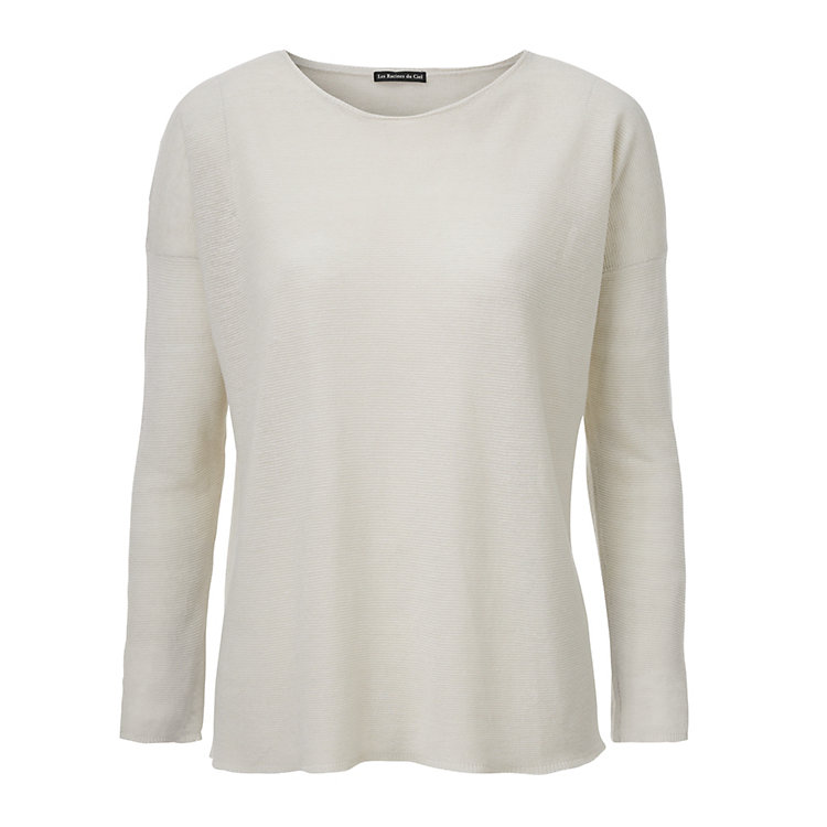 Oversized Women's Pullover by Les Racines du Ciel Cream