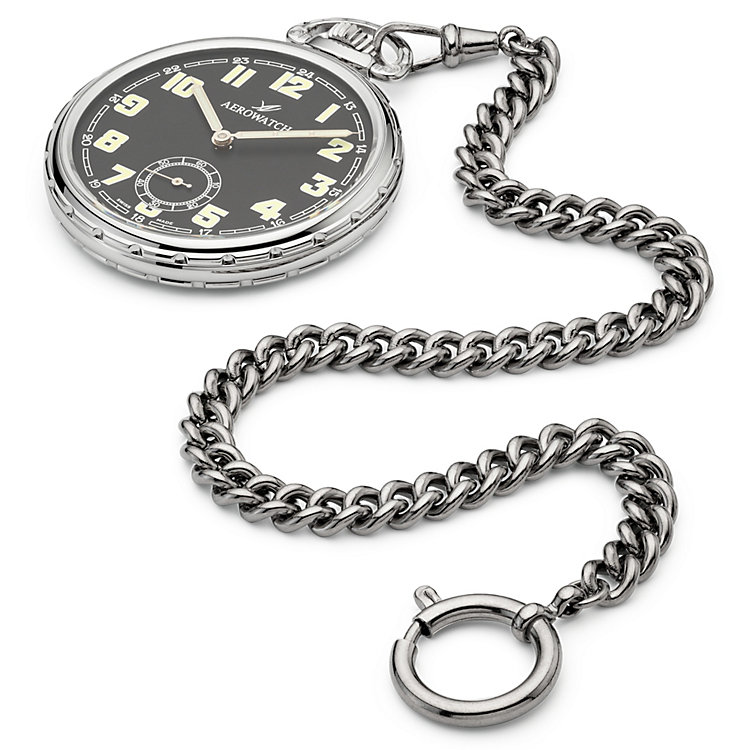 Palladium-plated Steel Watch Chain