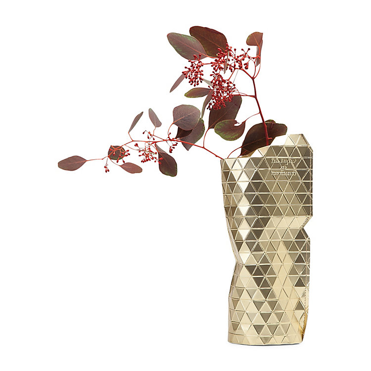 Papiervase Cover Gold
