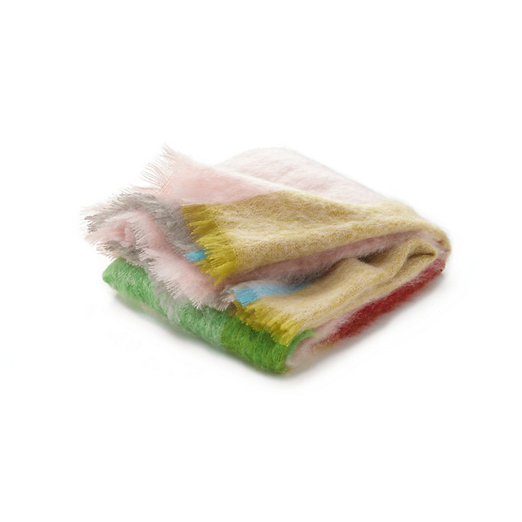 Pastel Color Mohair Blanket
