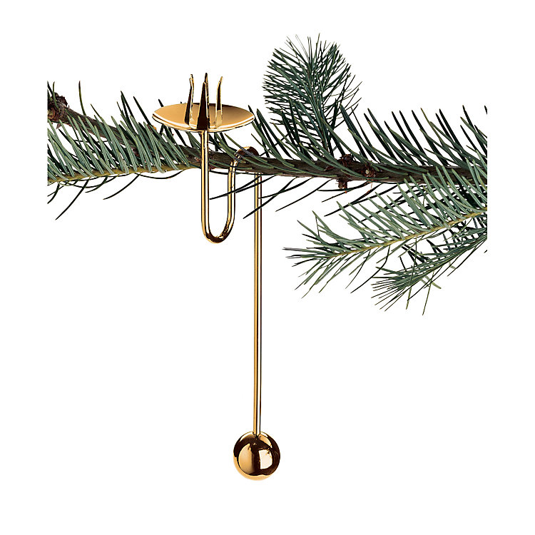 Pendulum Candle Holder Made of Brass Gold Plated Brass