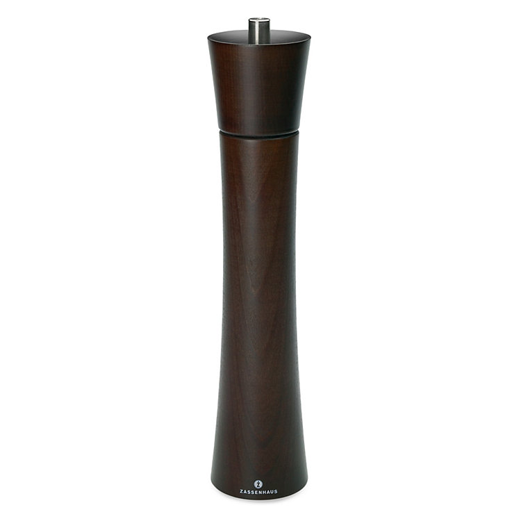 Pepper Grinder Made of Beech Wood with Ceramic Crushing Mill Height 30 cm Dark Brown Varnish