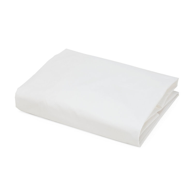 Percale Fitted Sheets White 90 × 200 cm