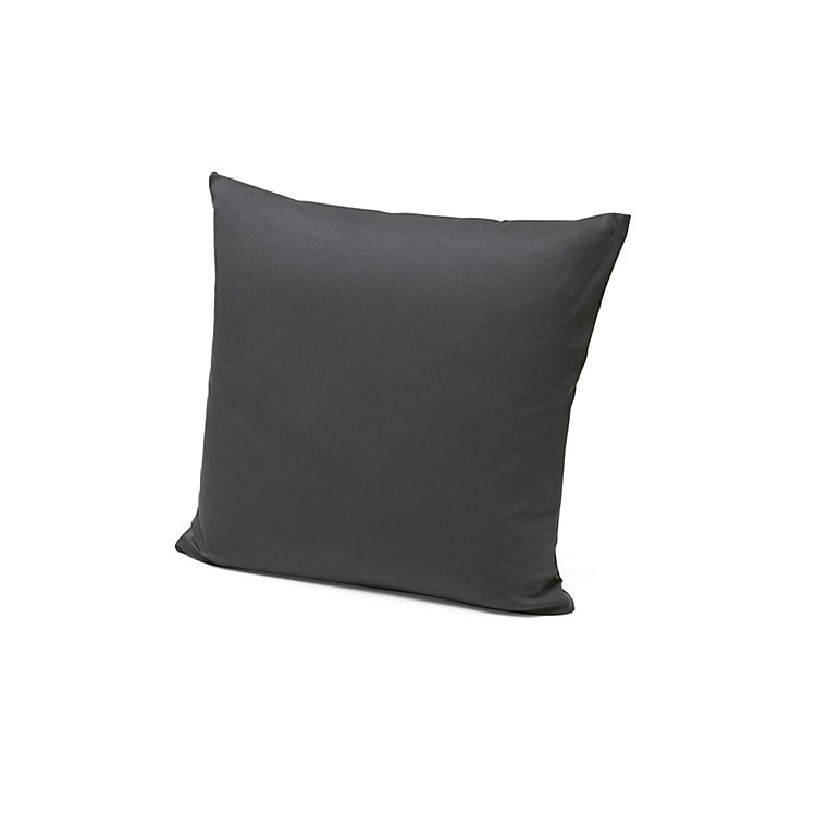 Pillow Case Made Of Double Jersey 80 x 80 cm Anthracite