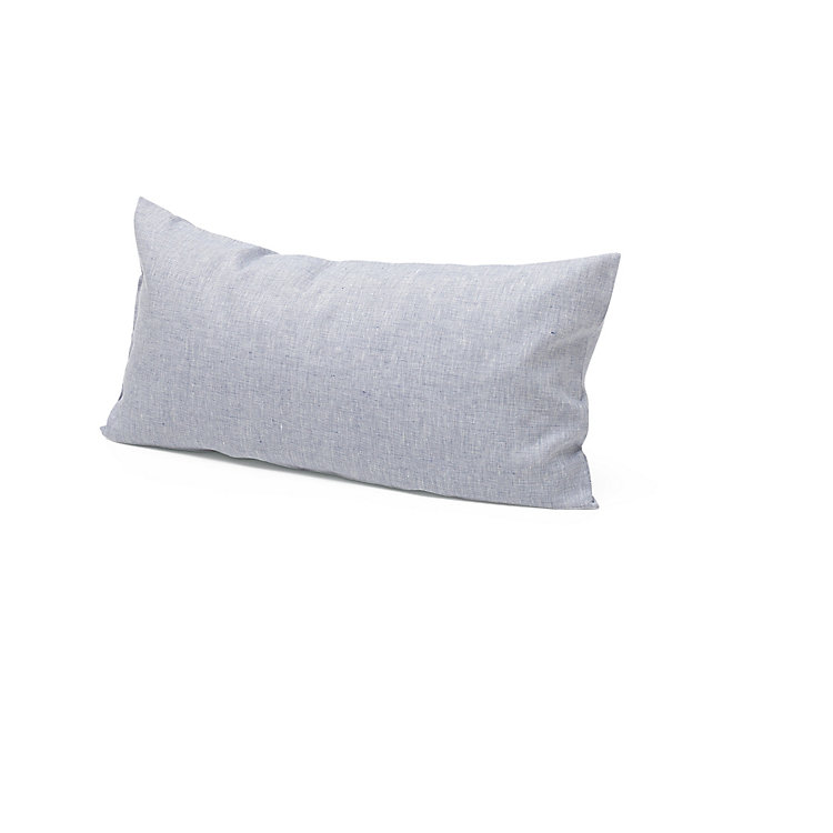 Pillow Case Made of Linen Blue-White 40 × 78 cm