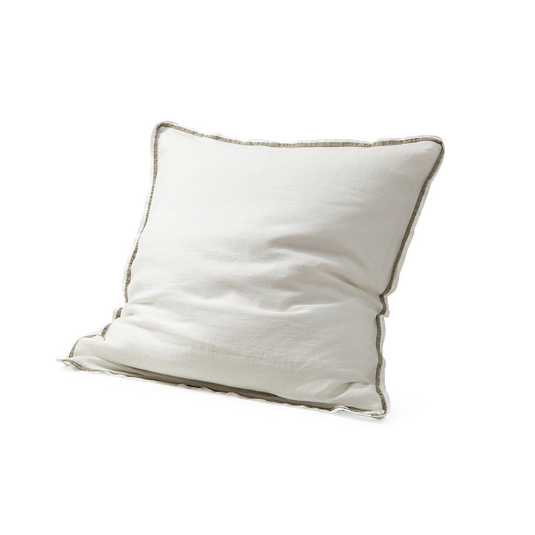 Pillow Case Made of Washed Linen 65 x 65 cm White