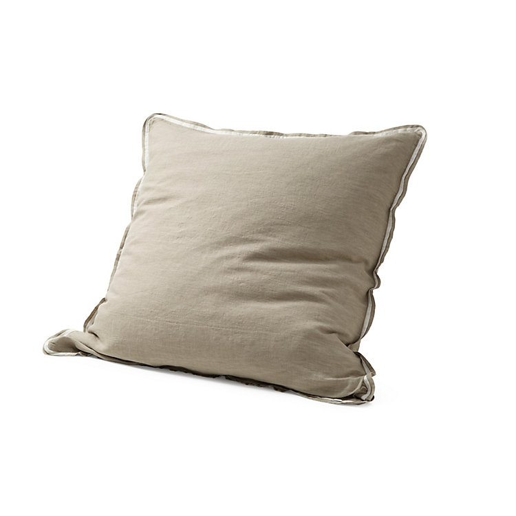Pillow Case Made of Washed Linen 40 x 40 cm Natural coloured