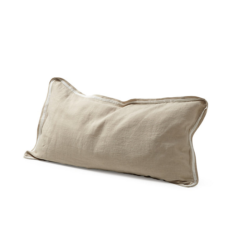 Pillow Case Made of Washed Linen 65 x 100 cm Natural coloured