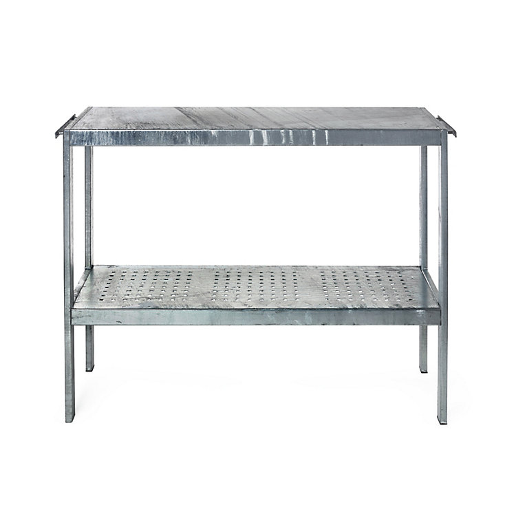 Plant and Grill Table Made of Galvanized Steel