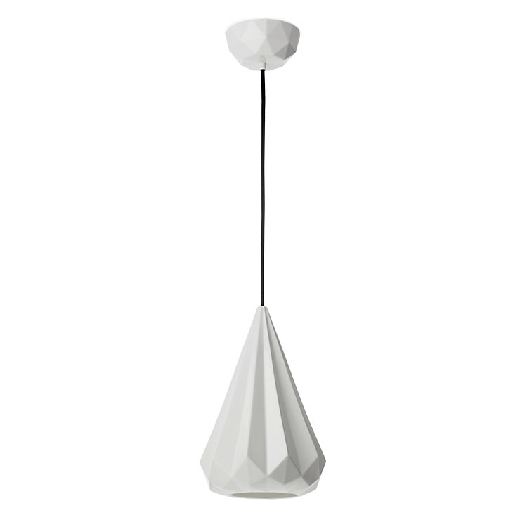 Polygonal Bone China Pendant Lamp
