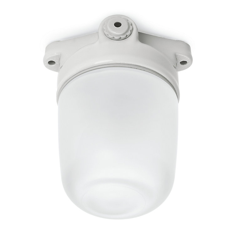 Porcelain Ceiling Light with Matt Glass Dome Large